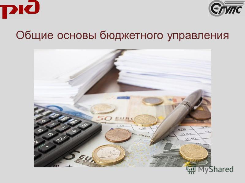 Общие основы бюджетного управления