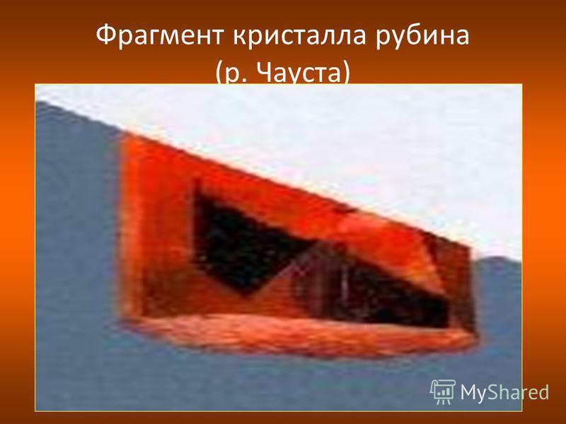 Фрагмент кристалла рубина (р. Чауста)