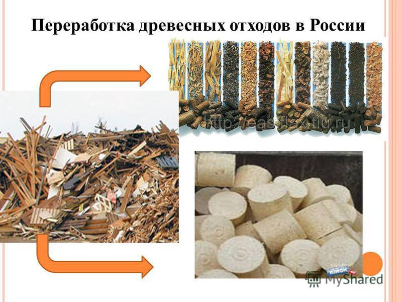 Переработка древесных отходов в России