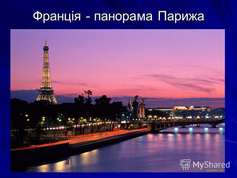 Франція - панорама Парижа