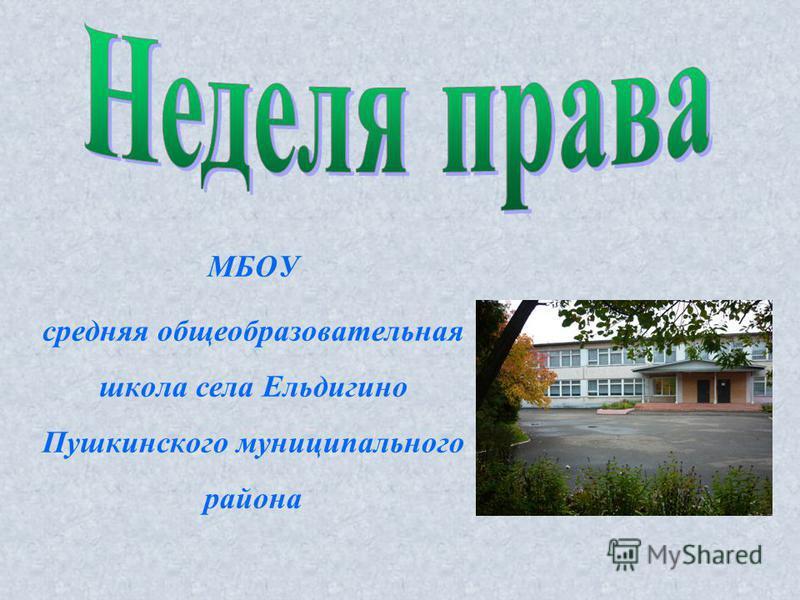 МБОУ средняя общеобразовательная школа села Ельдигино Пушкинского муниципального района