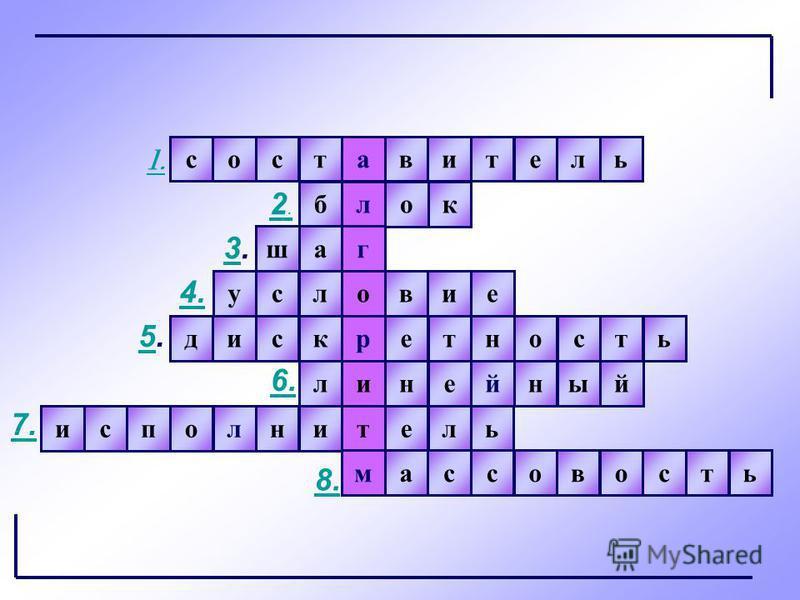 игра составитель лблоктисполнитель ммассовостьшаг 1. нодискретстьлинейный условие 2.2. 3.3. 4. 5.5. 6. 7. 8.