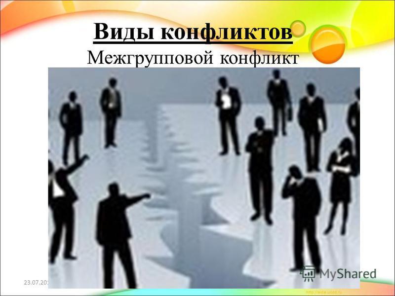 Виды конфликтов Межгрупповой конфликт 23.07.2015