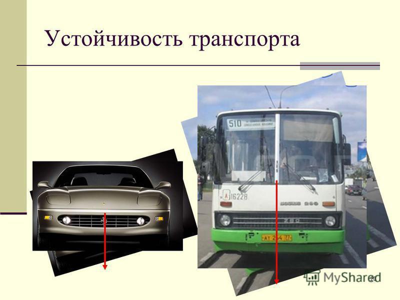 20 Устойчивость транспорта