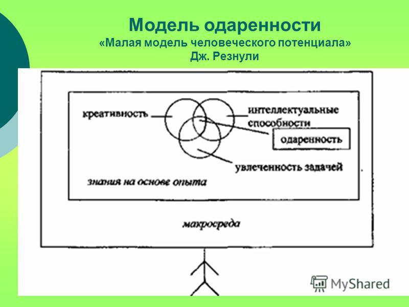 Модель одаренности «Малая модель человеческого потенциала» Дж. Резнули