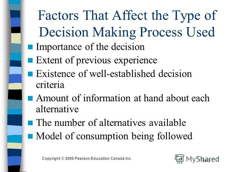 decision making process essay example