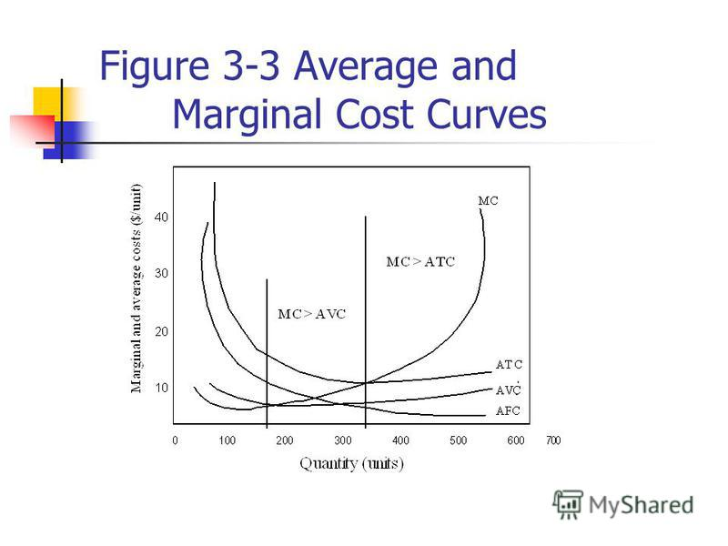 Figure 3-3 Average and Marginal Cost Curves