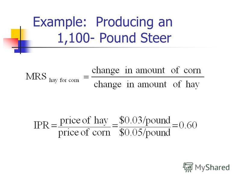 Example: Producing an 1,100- Pound Steer