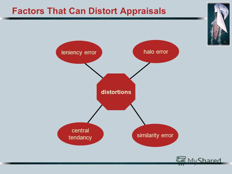 Factors That Can Distort Appraisals distortions central tendancy similarity error halo error leniency error