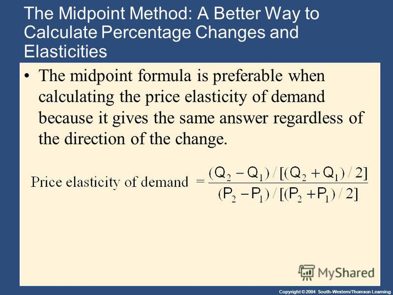 using the midpoint formula what is the price elasticity of demand for coke at these prices
