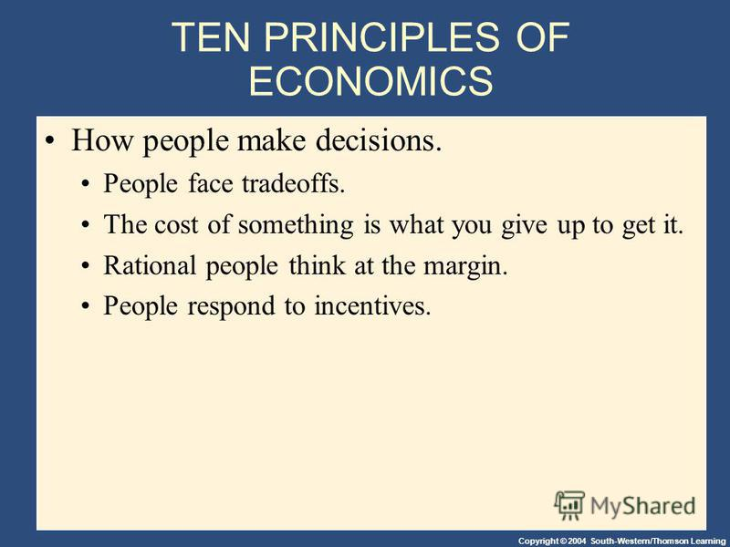 economics and rational people Rational choice theory is based on the most people are rational much by studying the economic problems solved by people and animals in their.