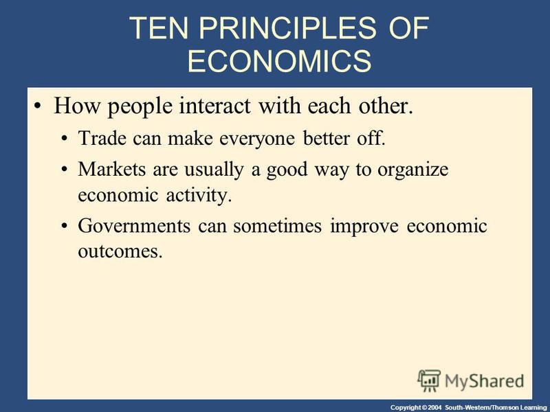 principles of economics essay