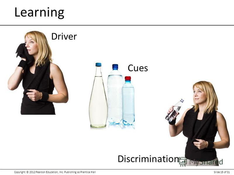 Copyright © 2012 Pearson Education, Inc. Publishing as Prentice HallSlide 15 of 31 Learning Driver Cues Discrimination