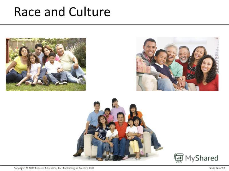 Copyright © 2012 Pearson Education, Inc. Publishing as Prentice HallSlide 14 of 26 Race and Culture