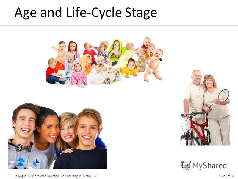 Copyright © 2012 Pearson Education, Inc. Publishing as Prentice HallSlide 8 of 26 Age and Life-Cycle Stage