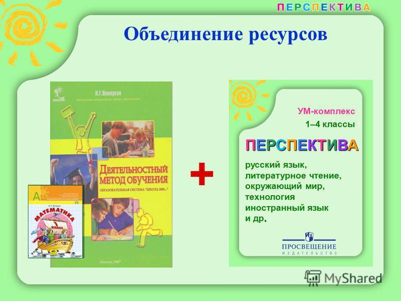 Объединение ресурсов УМ-комплекс 1–4 классы : ПЕРСПЕКТИВА русский язык, литературное чтение, окружающий мир, технология иностранный язык. и др. +