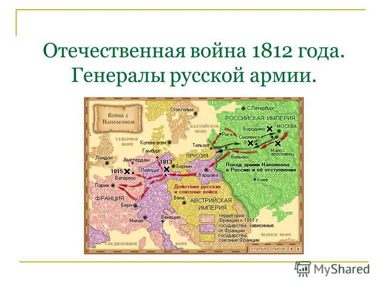 Отечественная война 1812 года. Генералы русской армии.