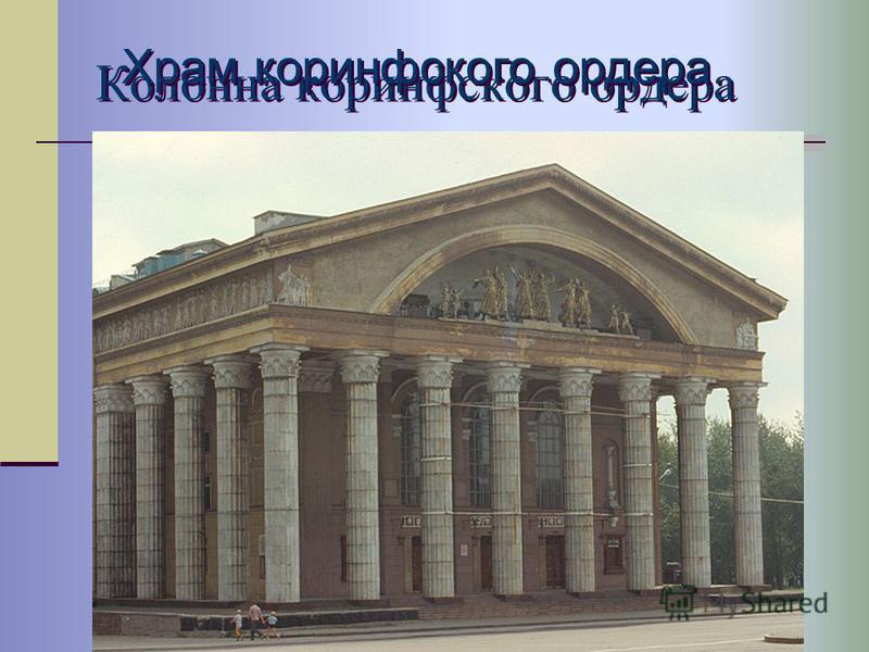 Колонна коринфского ордера Храм коринфского ордера