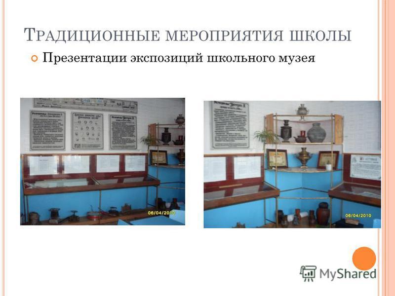 Т РАДИЦИОННЫЕ МЕРОПРИЯТИЯ ШКОЛЫ Презентации экспозиций школьного музея