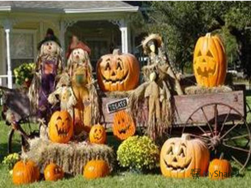 1.Who started Halloween? 2. The largest Halloween parade is held in … 3. The animal that best symbolizes the holiday is the… 4. Which of the following countries does not celebrate Halloween? 5. The colors traditionally associated with the holiday are