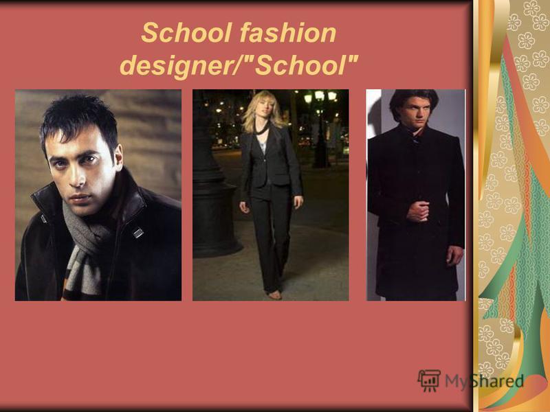 School fashion designer/School