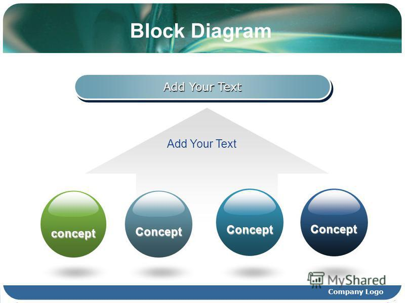 Company Logo Block Diagram Add Your Text concept Concept Concept Concept