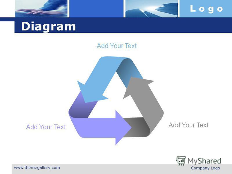L o g o www.themegallery.com Company Logo Diagram Add Your Text