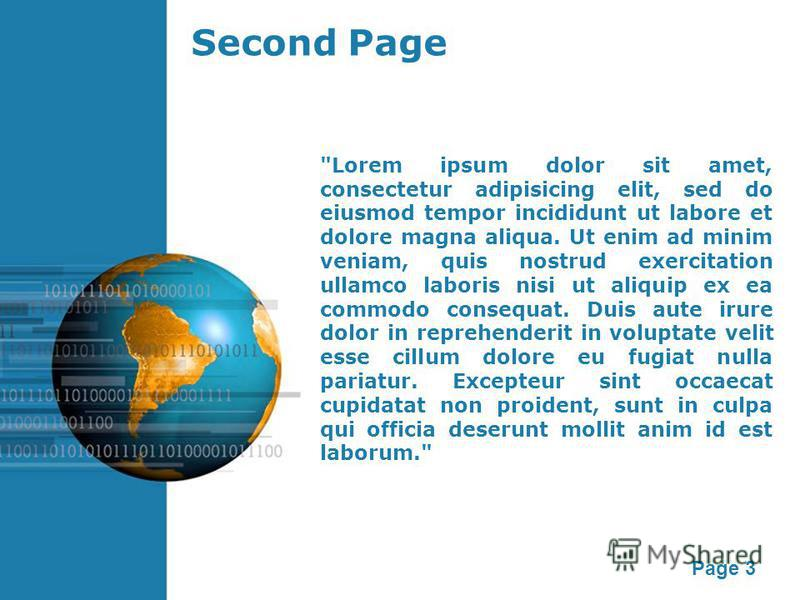 Page 3 Second Page