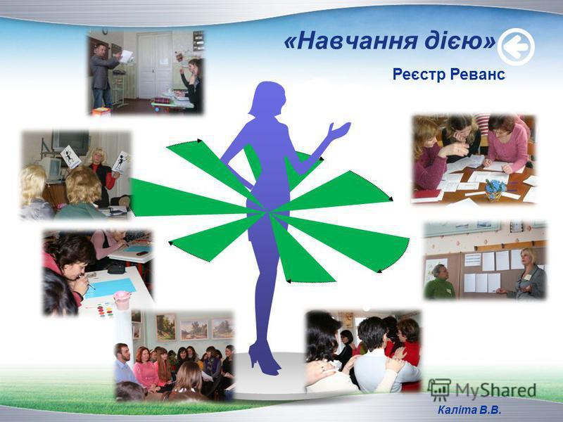 Title «Навчання дією» Реєстр Реванс Каліта В.В.