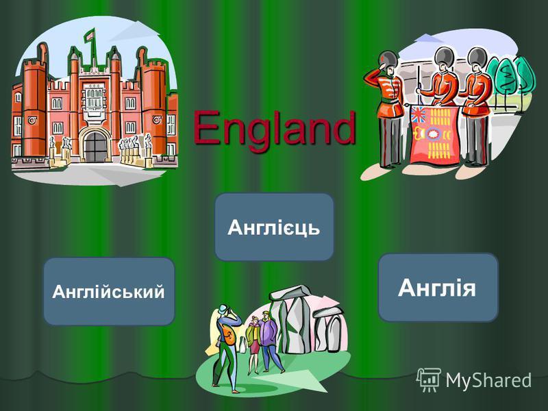 England Англія Англійський Англієць