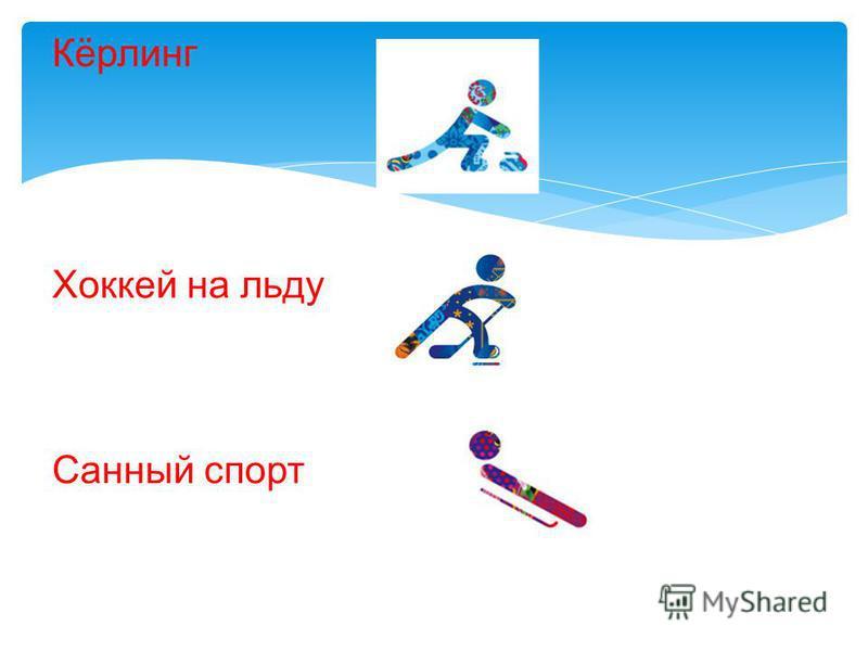 Кёрлинг Хоккей на льду Санный спорт
