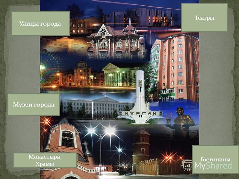 Культурный маршрут Г. Кургана Музеи города Улицы города Монастыри Храмы Гостиницы Театры