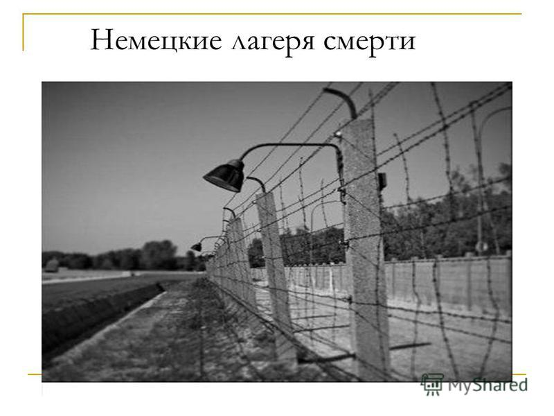 Немецкие лагеря смерти