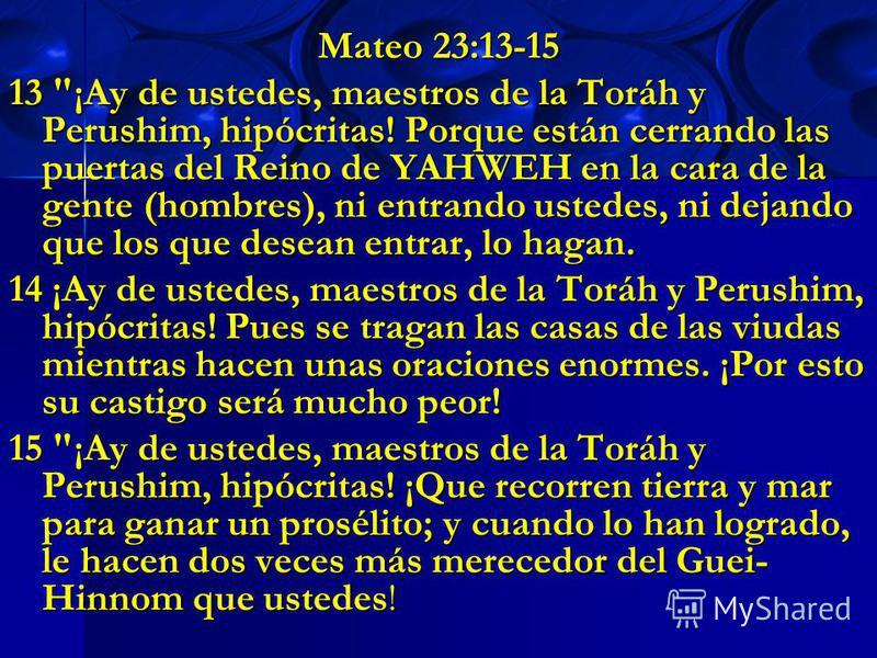 Mateo 23:13-15 13