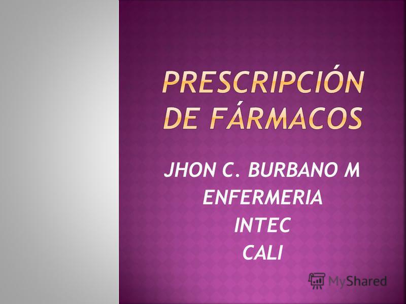 JHON C. BURBANO M ENFERMERIA INTEC CALI