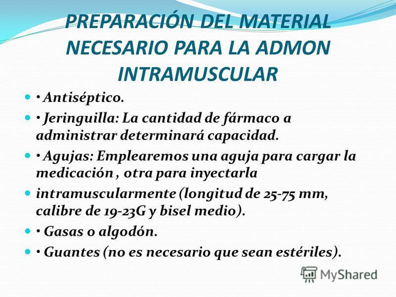 PREPARAR EL MEDICAMENTO
