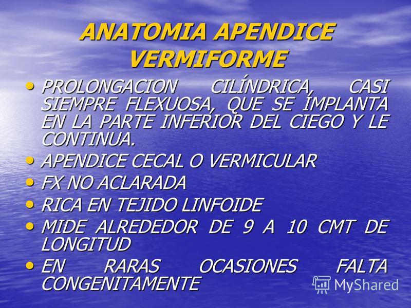 APENDICITIS JHON C. BURBANO MEDICINA USC PALMIRA