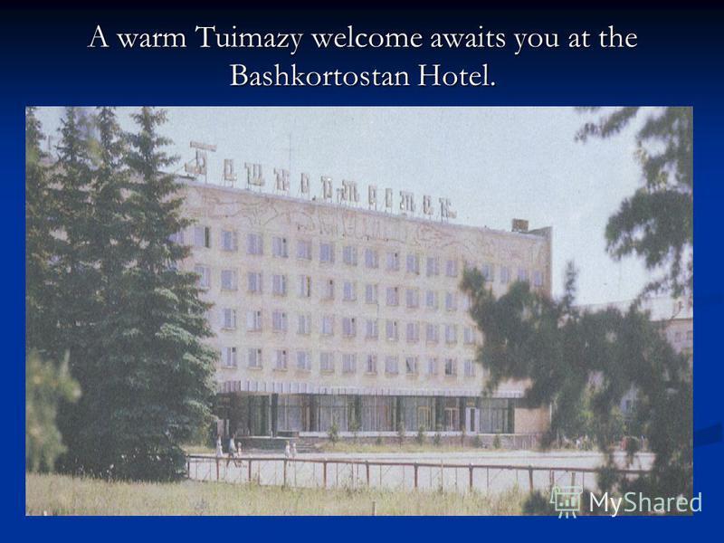 A warm Tuimazy welcome awaits you at the Bashkortostan Hotel.