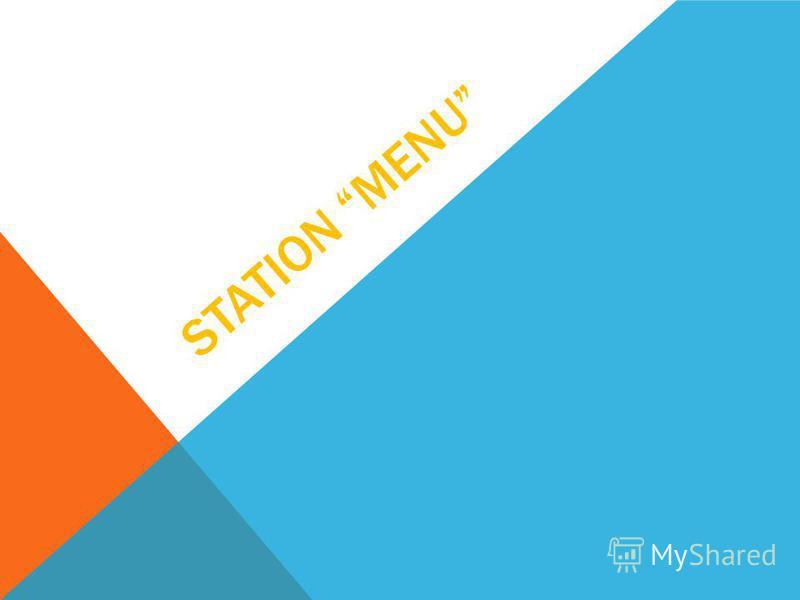 STATION MENU