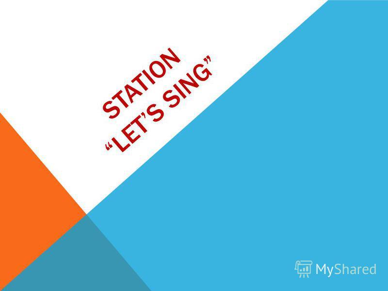 STATION LETS SING