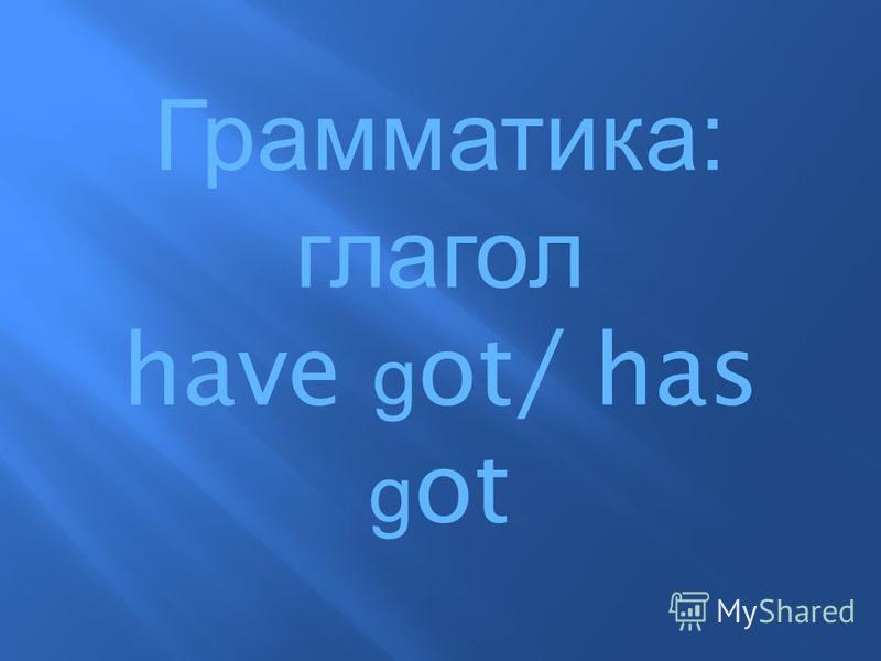 Грамматика : глагол have g ot/ has g ot