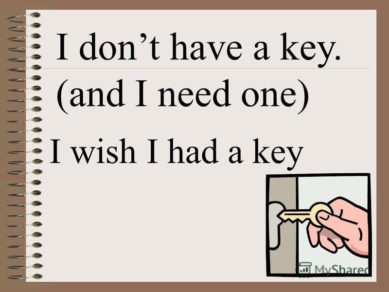 I dont have a key. (and I need one) I wishI had a key