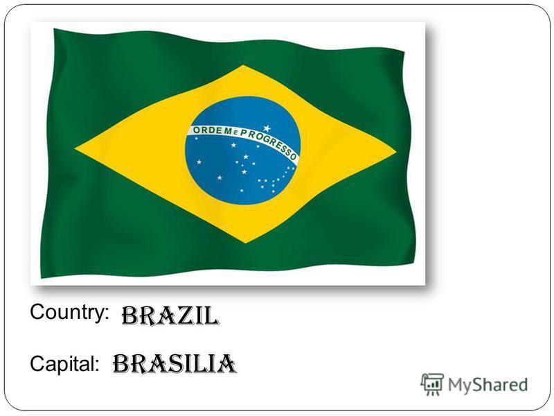 Country: Capital: Brazil Brasilia