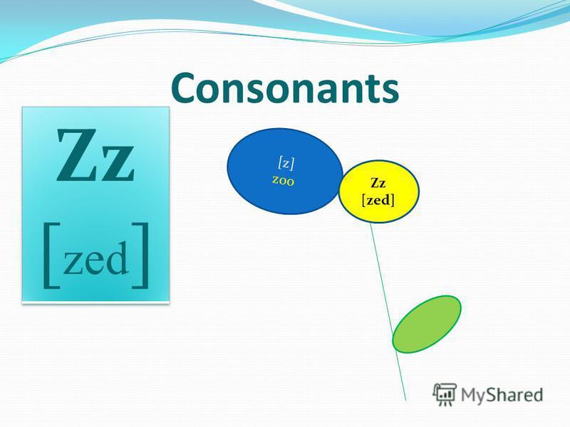 [z] zoo Consonants Zz [zed]