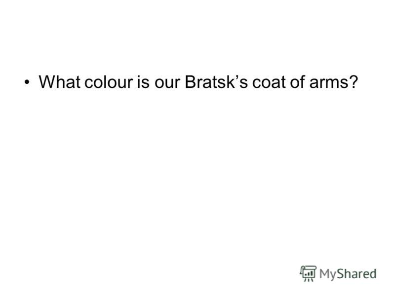What colour is our Bratsks coat of arms?