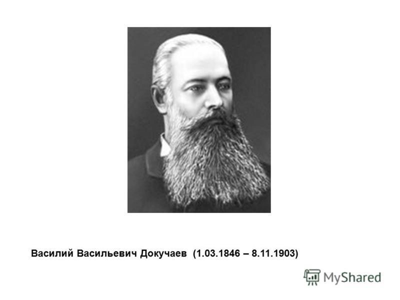 Василий Васильевич Докучаев (1.03.1846 – 8.11.1903)