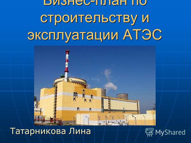 Бизнес-план по строительству и эксплуатации АТЭС Татарникова Лина