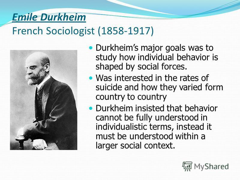 durkheim and the relevance of his