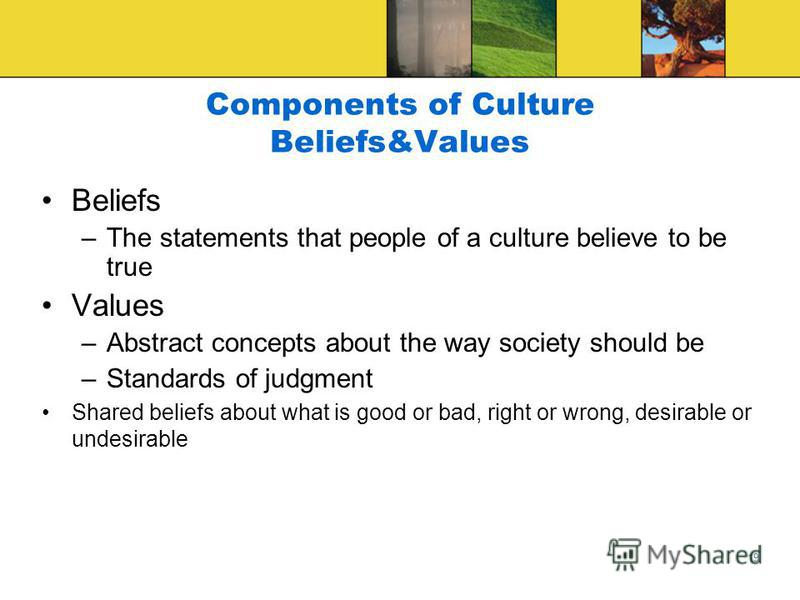 18 Components of Culture Language –a–a complex system of symbols that can be combined any number of ways that represent not only material cultural products, but for communicating our nonmaterial cultural products as well –O–Organization of written or