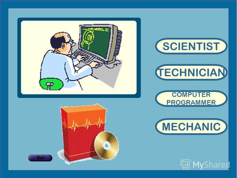 TECHNICIAN COMPUTER PROGRAMMER MECHANIC